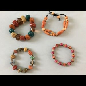 Bracelets - beaded and chunky - $50 for all 4